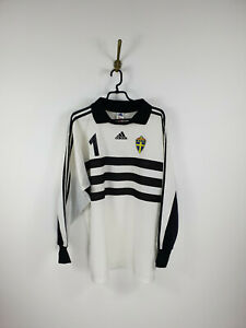 Vintage Adidas Sweden Goalkeeper 1 White Jersey Men Size: XL