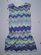 Crazy 8 patterned tunic top w/elastic waist girls 5/6