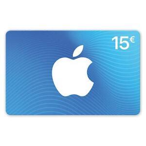 iTunes 15 Euro Guthabenkarte Prepaid Gutschein Guthaben Key €15 EUR Apple Store