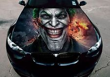 Vinyl Car Hood Wrap Full Color Graphics Decal The Joker Villain Arkham Sticker