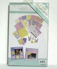 ColorBok Mini Scrapbook Kit Birthday Pink Purple Yellow Die Cut Stickers Pages