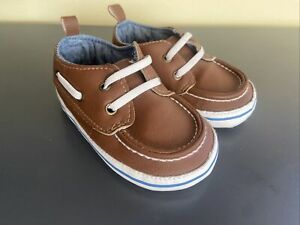Carters Baby Boy Shoes 9-12 Months Dress Shoes Soft Sole Brown
