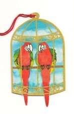 Lot of 6 RED PARROT MACAW BIRD X-Mas Christmas GIFT TAGS Tag