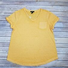 NWT Style & Co Womens XL Yellow Short Sleeve Top