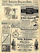Deutsche Electrische Controll- Apparat- Fabrik München Fritz Schulze Loden 1893