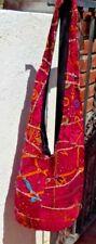 VINTAGE SARI FABRIC BOHO HIPPIE SHOULDER HAND BAG PURSE INDIA WITH FREE SHIPPING