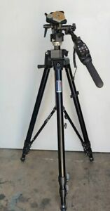 MANFROTTO BOGEN 3236 TRIPOD WITH 3063 HEAD & 522 LANC CONTROL PRO CAMERA SUPPORT