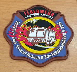 Flughafen Feuerwehr Hamburg Rubber Patch 10cm limited edition 3/50 Abzeichen