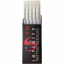 9RL Bugpin Round Liner Tattoo Needles Sterilized Disposable Box of 50 Pcs