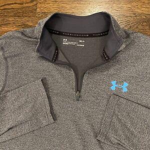 Under Armour Threadborne 1/4 Zip Shirt Pullover Men's Gray Long Sleeve Medium