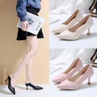Womens Ladies Kitten Heel Court Shoes Comfort Work Office Formal Wedding Pumps