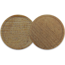 More details for deposit tokens coins wooden 'have a drink on us' champagne wedding party event