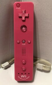 Pink Official OEM Nintendo Wii Remote Controller RVL-036 Motion Plus Tested