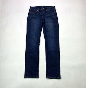 Gap Denim Slim Mens Size 28 X 30 Worn Dark Wash Jeans