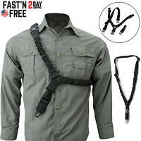 Tactical One Single Point Sling Strap Bungee Rifle Gun Sling with QD Buckle