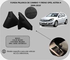 Funda Palanca de Cambio y Freno 100% Piel Compatible con OPEL ASTRA H 2004-2010