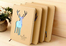 """""""Sky Deer"""" Hard Cover Cute Diary Lined Paper Pocket Notebook Journal Planner New"""
