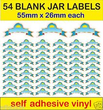 B 54 BLANK Jar Labels self adhesive vinyl HERB & SPICE Jar Storage Sticker decal