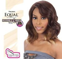 Freetress Equal Invisible L Part Hair Wig Synthetic Wavy Short Style Softy