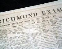 Rare CONFEDERATE Richmond VA Virginia Civil War 1861 Newspaper re. Elections