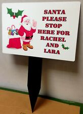 Childrens Personalised Santa Stop Here Sign With Any Name(s) Christmas Window