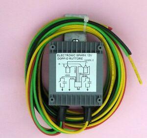 Centralina moto epoca  Electronic Spark Doppio ruttore+mantenitore di carica