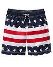 NWT Gymboree USA Patriotic American Flag Stars & Stripes Swim Trunks Shorts 5 6