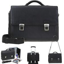 Aktentasche DERMATA Ledertasche EXECUTIVE Leder Tasche 2825NY + Mäppchen SCHWARZ