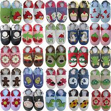 carozoo doux bébé en cuir chaussures/pantoufles à semelle à vendre jusqu'à 4 ans