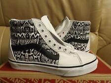 Vans Sk8-Hi (Python) Women's Size 6.5 Shoes White/True White Canvas VN0A4U3CWTQ