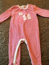 Baby Girls Bluezoo Velour Baby Grow, 9-12 Months
