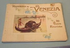 Antique Venice Italy 15 Color View Book Churches Palaces Canals Beautiful Art
