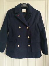 Zara Girls Age 9-10 Pea Coat Navy Wool