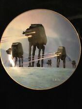 """Star Wars """" Imperial Walkers"""" Collector'S Plate"""