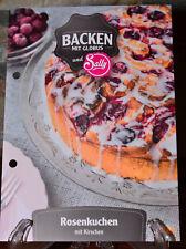 Rosenkuchen mit Kirschen Backen Globus und Sally Rezept Rezeptkarte