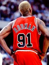 1996 DENNIS RODMAN Chicago Bulls  *NBA FINALS ACTION* Glossy Photo 8x10 PICTURE