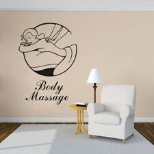 Body Massage Salon Vinyl Wall Sticker Spa Salon Decor Window Removable Poster