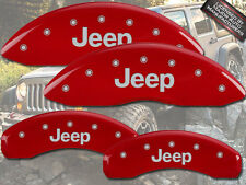 """2003-2004 """"Jeep"""" Grand Cherokee Front + Rear Red MGP Brake Disc Caliper Covers"""