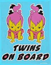 "Sticker Aufkleber Reflektierend ""Twins on board"" Zwillinge Baby Kind"