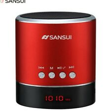 Sansui Mini Portable Subwoofer Wireless Bluetooth Speaker Boombox FM Red only