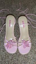 Soda Pink Platform Lace Up Leg Sandals Size 8.5 (2127)