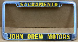 "VERY RARE  CHEVROLET "" JOHN DREW MOTORS ""( SACRAMENTO CA. ) LICENSE PLATE FRAME"