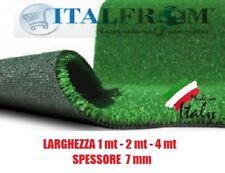 Prato Sintetico Erba Finta Artificiale Calpestabile 7 mm Tappeto Verde Italfrom