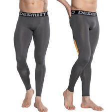 Men Compression Pants Base Layer Skin Tight Gym Sports Running Fitness Leggings