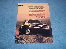 1991 Toyota 4x4 Xtracab SR5 V6 Pickup Truck Vintage Ad