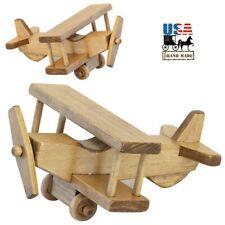 Airplane - Amish Handmade Biplane Wood Toy Usa Handcrafted Plane Montessori Play