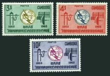 Cambodia 146-148 blocks/4,MNH.Mi 189-191. ITU-100,1965.Communication equipment.