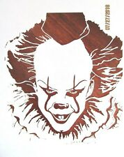 IT Pennywise Evil Clown Stencil/Template Reusable 10 mil Mylar Stencil