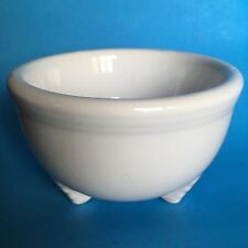 Homer Laughlin Fiesta WHITE Tripod Bowl Never Used