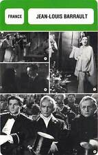 FICHE CINEMA :  JEAN LOUIS BARRAULT -  France (Biographie/Filmographie)